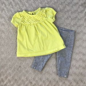 Carter's Baby Girl Outfit Set Size 3 Months Yellow